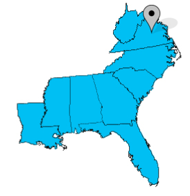 Map depicting SASA's region